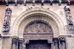 Toulouse: le tympan de la porte Miègeville de la basilique St Sernin