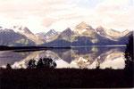 """les """"alpes"""" du Lyngenfjord se mirent dans l'eau"""