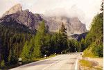 dans la montée du Passo di Falzarego