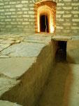 l'arrivée du qanât (conduit d'eau souterrain) au musée de l'eau de Yazd
