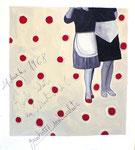 Marta Bettega,Gambette indiavolate, tecnica mista su multistrato, 45 x 45 cm, 2007.