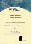 Хомович Алексей Сертификат 25422A M1 X11 Features and Administration to Rls.25