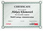 Хомович Алексей. Сертификат Avaya MultiVantage Administartion. Установка и настройка Avaya S8300, S8400, S8500, S8700, S8800