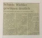 Anzeigen Echo vom 11.10.2017: Bericht zum Mannschaftskampf Drolshagen - Wiehl