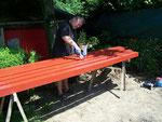 Endlich erste Holzarbeiten - first woodworks