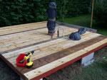 Na bitte der Boden nimmt gestalt an - the groundfloor take shape