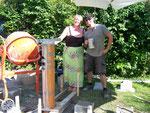 Die Bauaufsicht und mein lieber Astrokollege Hannes - my construction supervision and my dear astrocolleague Hannes