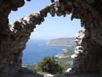Blick vom kastell Monolithos auf die westküste