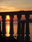 Sonnenaufgang vor unserem Balkon