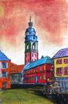 """""""Marktplatz in Haslach"""" (Pastellkreide) verkauft"""