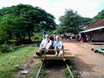 Asie 2015 Cambodge - Bamboo train