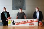v.l. Michael Meyer (Vorstandssprecher SSV Lüdenscheid), Jürgen Kotziers (Fachdienst Schule und Sport), Sebastian Wagemeyer (Bürgermeister der Stadt Lüdenscheid)