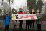 v.r. Eva Gobrecht, Renate Friedrichs, Ulla Ronhardt, Birgit Gütting, Gudrun Merz, Achim Ronhardt (alle DJK Eintracht Lüdenscheid)