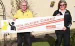 v.l. Werner Hawel (Vorsitzender Behindertensportgemeinschaft Lüdenscheid), Anja Esser (KSB MK)