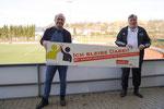 v.l. Demir Mutlu (Trainer RSV Meinerzhagen), Klaus Scharf (KSB MK)