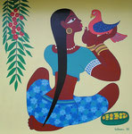 Asia_Bali_ Girl with Bird © Pepponi Art