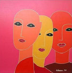 Women_ 3 Orange Heads © Pepponi Art