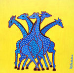 Africa_ Giraffes Blue © Pepponi Art