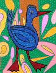 Birds_ Blue Duck  © Pepponi Art