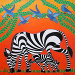 Africa_Tinga-Tinga Zebras © Pepponi Art