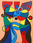 Abstract_ Young Couple © Pepponi Art