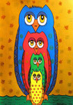 Owl_ Family  © Pepponi Art