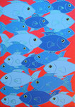 Fish_ The Blue Swarm © Pepponi Art