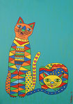Cats_ Mimi and Wanda © Pepponi Art
