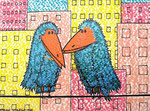 Birds_Mom and Dad visit the City © Pepponi Art