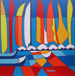 Abstract_ Sailing Boats I © Pepponi Art