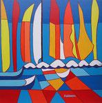 Abstract_ Sailing Boats I © Pepponi Art