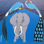 Africa_Tinga-Tinga Elephant I © Pepponi Art