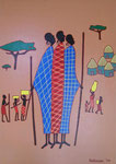 Africa_ Masai Women in Village © Pepponi Art