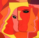 Women_ Red Faces © Pepponi Art