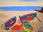 Europe_Spain_Mallorca_boats on the Beach © Pepponi Art