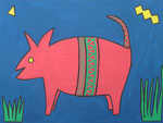 Rosy the Piglet for Good Luck © Pepponi Art