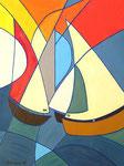 Abstract_ Sailing Boats III © Pepponi Art