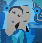Women_ Blue Heads © Pepponi Art