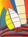 Abstract_ Sailing Boats II © Pepponi Art