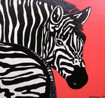 Africa_ Zebra Red © Pepponi Art