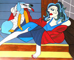 Special Order_ Women_ Lady with Dog © Pepponi Art