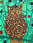 Owl_  Leopard Chui  © Pepponi Art