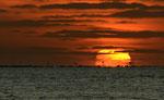 Sonnenuntergang hinter den Windmühlen