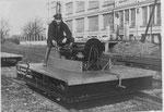 Austro Daimler Motorbahnwagen, auch Bahnmeisterwagen genannt, Type BM 12/4 mit FB4 Benzinmotor zum Transport von Mannschaft und Material, Baujahr ab 1925.