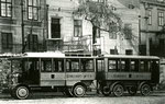 Austro Daimler O-Bus Type Wien mit Anhänger 1911, Spezialausführung mit4 Radnabenmotore System Lohner Porsche Stoll