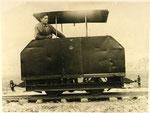 Austro Daimler Feldbahnlokomotive Type SL 12A mit FB 12 Benzinmotor, gebaut ab 1929.