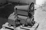 Austro Daimler 4 Zylinder Feldbahnmotor Type FB 12 mit 12PS Leistung, luftgekühlter Benzinmotor mit Draisinengetriebe, gebaut ab 1928.,