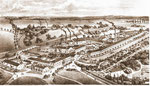 Bild aus der Zeit vor der  Betriebsgründung etwa um1890 Maschinenfabrik Gebr. Fischer