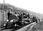 Austro Daimler C-Zug M.16 auf Erprobungsfahrt zwischen Puchberg/Schneebg. u. Wr. Neustadt, gebaut ab1916.