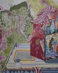 陶器棚 2014 100.0×80.3㎝ キャンバスに油彩、ボールペン  (C)Rina Mizuno
